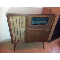 Combinado Antiguo Winco Tocadiscos Con Mueble Y Radio