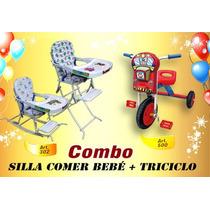 Silla De Comer Transf.mecedora+triciclo! Combo! Art.302 +500