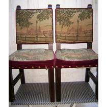 Muy antigua mecedora tapizado gobelino sillas en muebles - Sillas estilo espanol ...