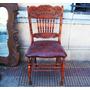 Historical*-silla Tallada Telegrafo Ffcc=windsor Roble=envio
