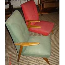 Sillon De Diseño Retro Vintage Americano A Restaurar B/est
