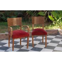 Sillon Y Silla Antiguas Art Decó Francés Ingles C/detalle