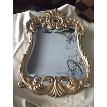 Antiguo Espejo Frances Dorado Impecable Estado Biselado