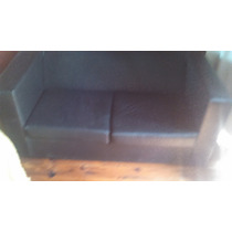 Combo Living Sillon Sofa Cubo 2 Cuerpos + Mesa Ratona 2 Puff