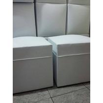Pufff, Cubo 40x40. Estructura Reforzada. En Ecocuero.