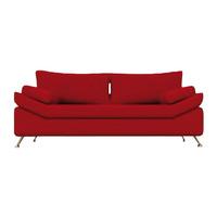 Sillon Sofa 2/3 Cpos Patas Metalica Talam/chenille Alta Gama