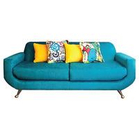 Sofa Sillon Vintage 60s Retro Pana Chenille Patas Aluminio