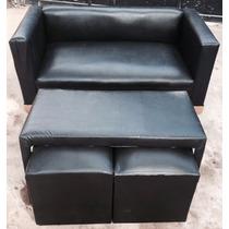 Fabrica Nuevo Sillón O Sofá Cubo 2 Cuerpos + Mesa + 2 Puff