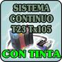 Sistema Continuo Para Epson T23 T24 Tx105 Tx115 Con Tinta