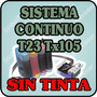 Sistema Continuo Para Epson T23 T24 Tx105 Tx115 Sin Tinta