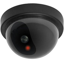 Camara De Seguridad Vigilancia Falsa Con Led Intermitente