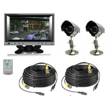 Kit Monitor Lcd 7 2 Camaras Infrarrojas 2 Rollo Cable Fuent