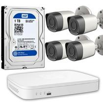 Kit Seguridad Pc Viewsonic Dvr 4 Vieweye Hd + Disco 1tb Wd