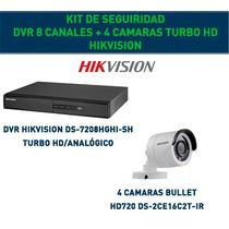 Kit Ctv Hikvision Dvr 8 Canales + 4 Cámaras Turbo Hd! Gtía!!