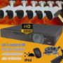 Kit Seguridad Alta Definición Dvr 8 + 6 Cámaras Ahd Ext+disc