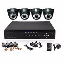 Kit Seguridad Dvr Con 4 Camaras Interior Vision Nocturna