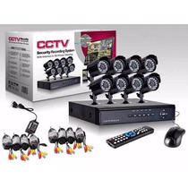 Kit Camara Seguridad Vigilancia 8 Camaras Dvr Cctv Celular