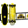 Mini Cruiser Longboard By Moolahh Fish Style Neon Vinyl 28