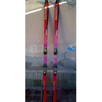 Skies Ski Esquies Salomon Con Fijaciones Salomon Excelentes!
