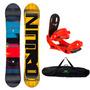 Tabla De Snowboard Nitro + Fijaciones + Funda Oferta Combo