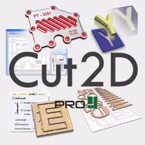 Cut2d Pro - Mecanizado Fresado Grabado Enrutamiento Cnc 2d