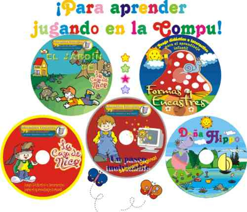 Software Educativo 21 Cd Para Niños De 2 A 11 Años