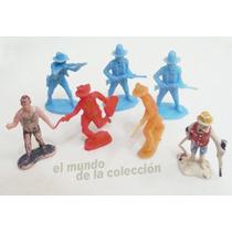 Lote Cowboys Vaqueros Plasticos X7 Decada 70-80