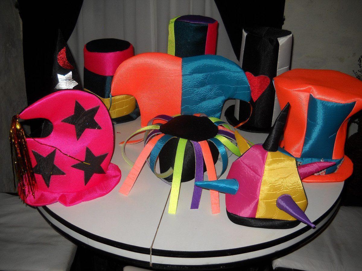 Sombreros Gorros Cotillon Fluo / Casamientos 15 Años - $ 18,00 en ...