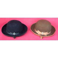 Par De Sombreros De Fieltro Tradicionales Del Altiplano
