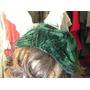 Sombrero Armado De Dama De Chiffón Color Verde Oscuro.boina