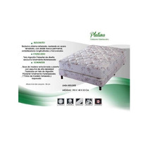 Sommier_colchon Cannon Platino Resorte 160 X 200 2 1/2 Queen
