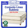 Conjunto Cannon Sublime Resortes Individuales 1,60 X 200 Mt