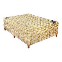Colchón Somier Taurus Palace Resortes 140x190 Con Pillow Top