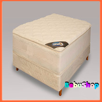 Sommier Camudi Dorado Con Doble Pillow 33 Kg.dn+ 2 Almohadas