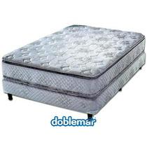 Colchón + Sommier Cannon Doral Con Pillow De 2 Plazas