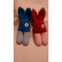 Sonajero Conejo Crochet Amigurumi El Cristal Encantado