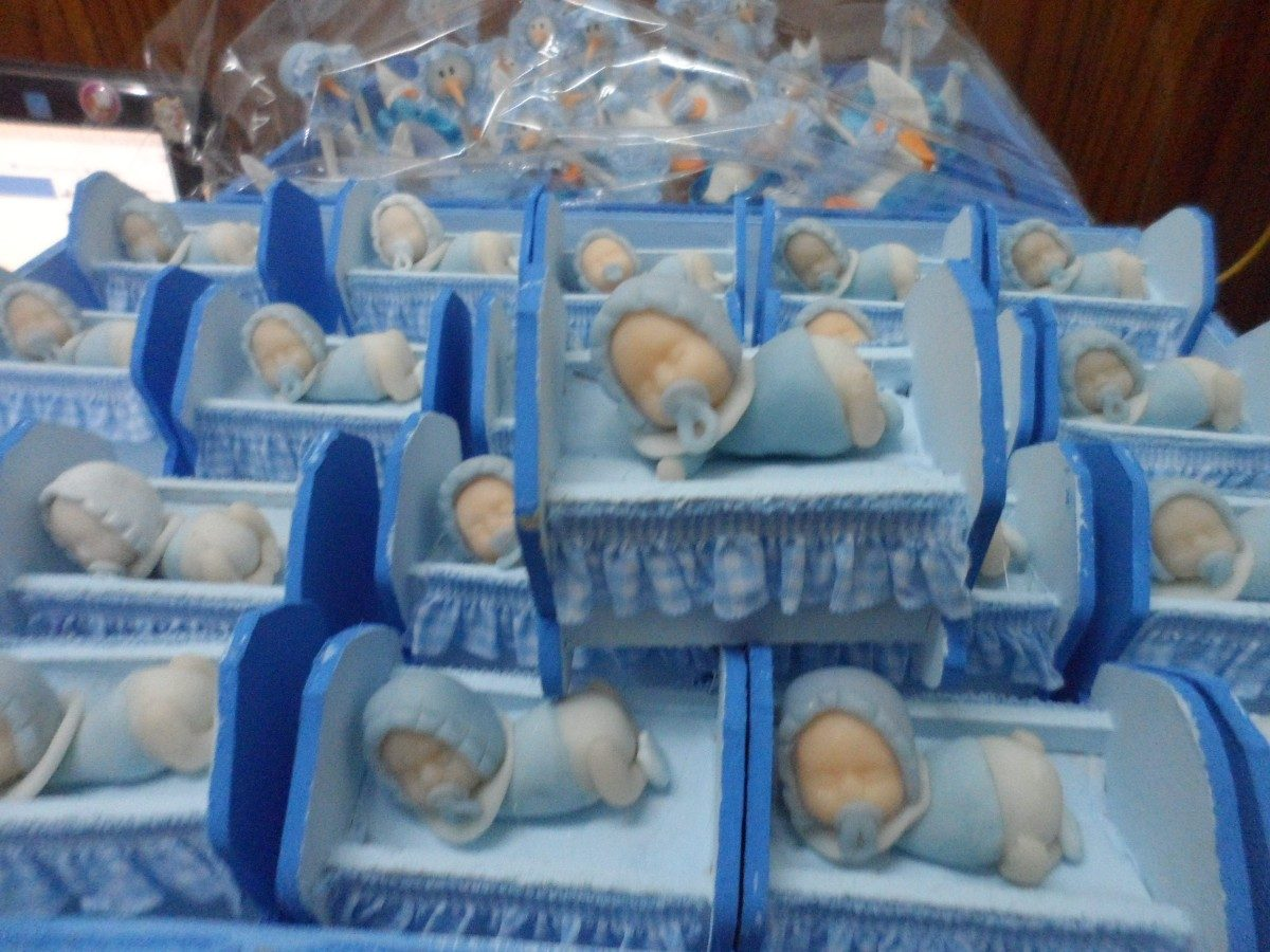 Souvenir Nacimiento Nena/varon Cunita X10 - $ 290,00 en MercadoLibre