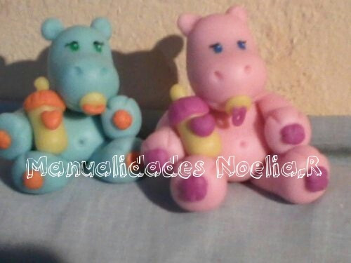 Souvenirs De Hipopótamos En Porcelana Fria - $ 20,00 en MercadoLibre