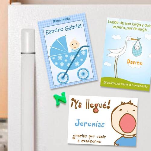 Souvenirs Imanes Nacimiento Personalizados 10 Imanes - Varon ...