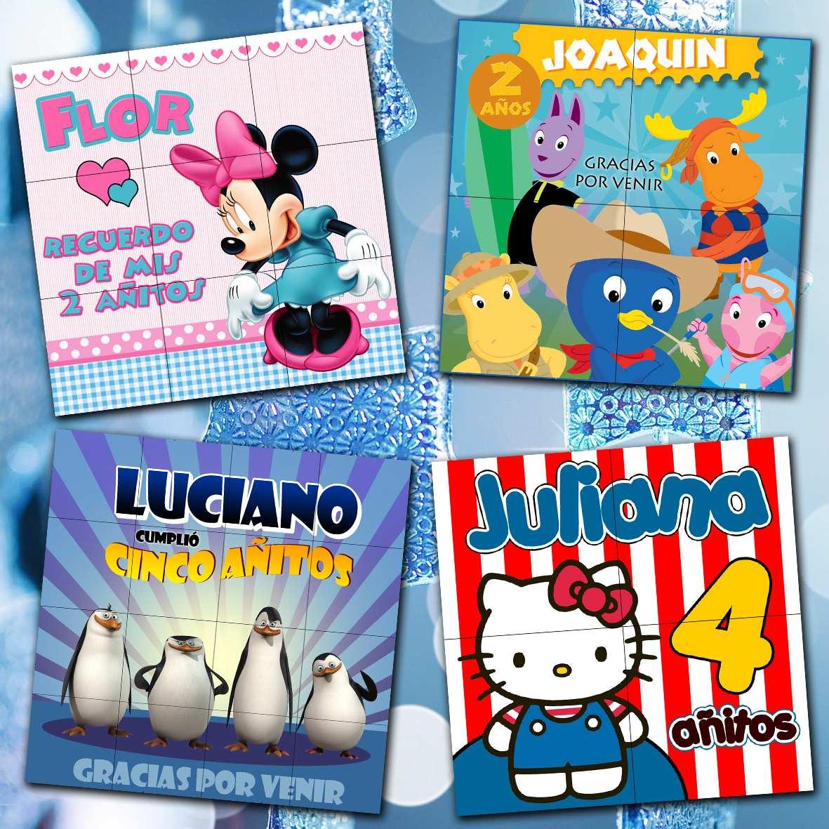 Souvenirs Infantiles Rompecabezas En Imán Personalizados - $ 204 ...