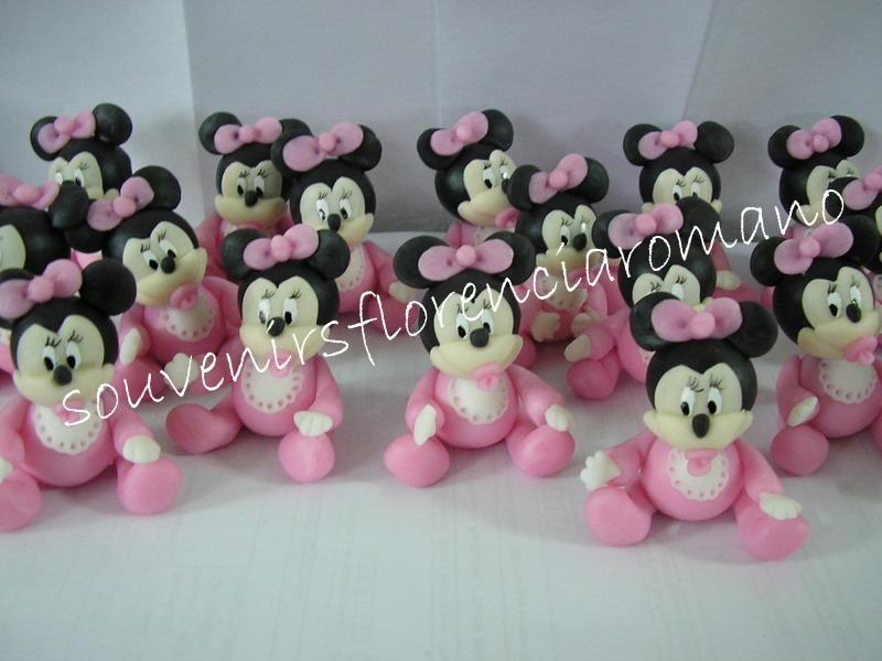 Souvenirs Minnie Mickey Mouse Bebe, En Porcelana Fria - $ 14,00 en ...