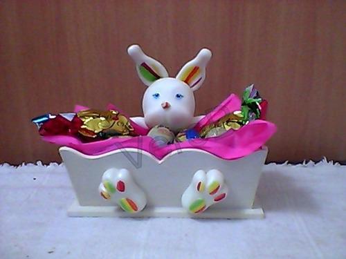 Souvenirs Para Pascuas Y Cumpleaños, Conejito Porcelana Fria ...