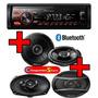 Combo Stereo Pioneer Mvh 285 Usb Bluetooth + 4 Parlantes Pio