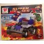 Lote Simil Legos Dargo - Batman Superma Dc Figura Y Vehículo