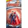 Muñeco Articulado Superman Con Luz Y Capa 16 Cm Alto