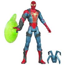 Muñeco Marvel Spiderman Con Lanzador De Tela De Araña Hasbro