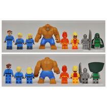 Fantastic 4 - Set Completo X 8 Mini Figuras - Marca S Y