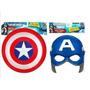 Combo: Mascara + Escudo Capitan America Con Luz Y Sonido