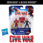 Captain America Civil War Pack Iron Man & Black Widow