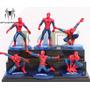Figura Spiderman Hombre Araña Adorno Para Torta Pvc Con Base